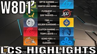 LCS Highlights ALL GAMES Week 8 Day 1 Spring 2019 League of Legends NALCS