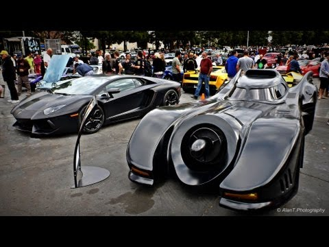Original Batmobile vs Lamborghini Aventador! Jeff Dunham s Batmobile Batman Returns Detail Tour