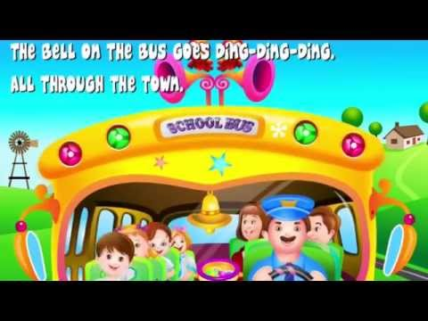 Wheels On The Bus Go Round And Round - Nursery Rhymes   Kids Songs video