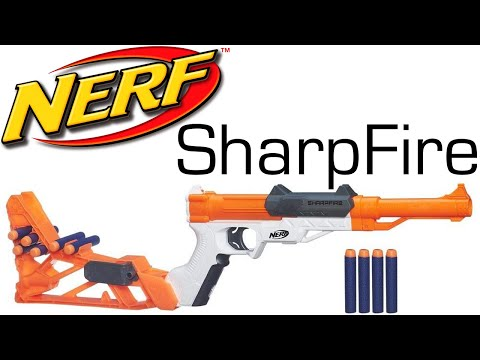 NERF N-Strike Sharpfire Unboxing and Review!
