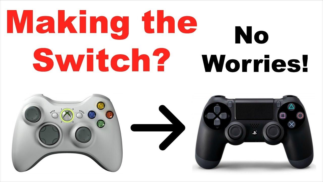 Xbox 360 Controller vs Ps4 Controller 360 to Ps4 Controller