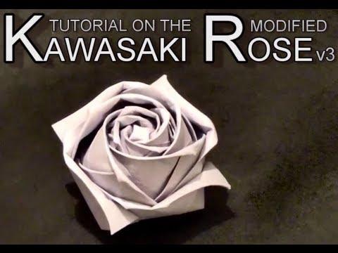 Оригами роза кавасаки схема