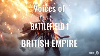 Battlefield 1 - English Voices