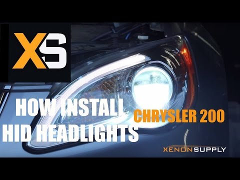 XS Chrysler 200 HID - How to Install HID Xenon 2013+