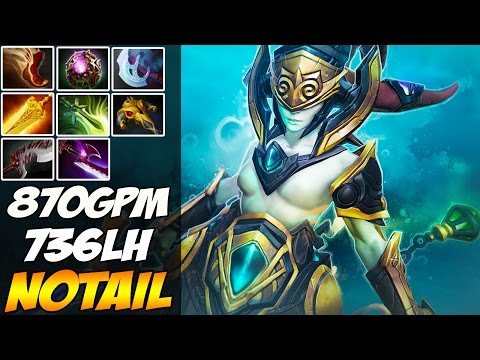 N0tail 7,5k MMR Plays Naga Siren With 870 GPM and 8 itens - Dota 2