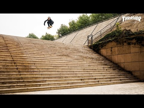Biggest. Drop. Ever! Jaws plummets his way into skateboarding history with nerves of steel, joints of rubber and a little help from Ali Boulala. Skateboarding rules! Keep up with Thrasher...