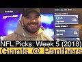Giants At Panthers 2018 Week 5 NFL Picks Predictions New York NYG Vs Carolina Football mp3