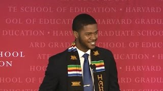Harvard grad wows crowd with spoken word commencement address