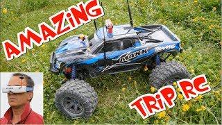 AMAZING TRIP RC CAR FPV - TRAXXAS X-MAXX + PARROT BEBOP - MODEL - 3 CAM ONBOARD