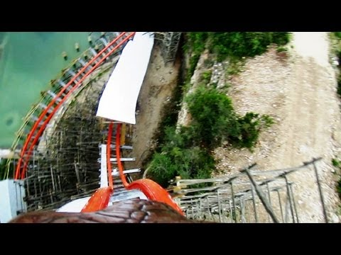 Iron Rattler front seat on-ride HD POV Six Flags Fiesta Texas
