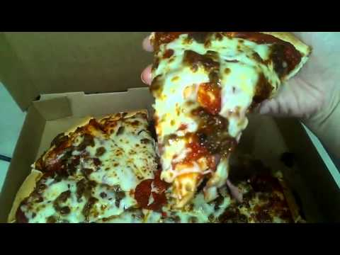 Godfather's Pizza Review Three Meat Large Pizza