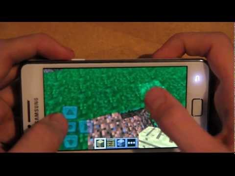 Minecraft Pocket Edition Samsung Galaxy S2 Review For Android Smartphones! (HD)