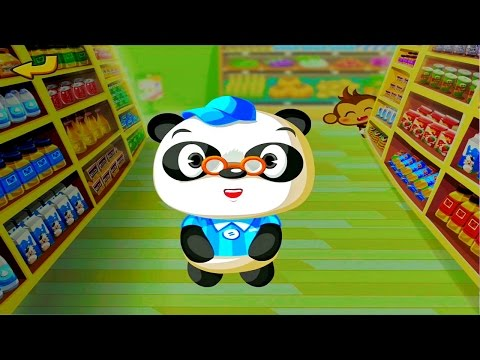 Доктор Панда в супермаркете - Развивающие мультфильмы.  Dr Panda's Supermarket
