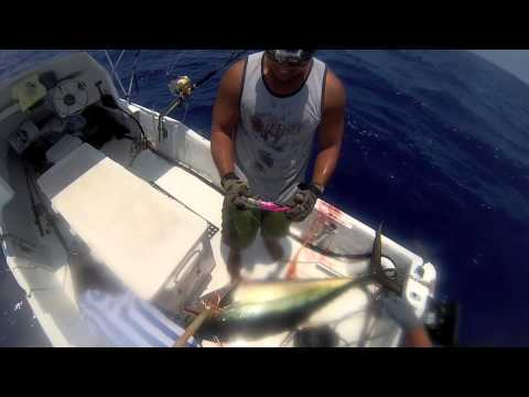 2013 Ep. #7 Ahi 158# (Yellowfin Tuna) Fishing Kona, Hawaii GoPro