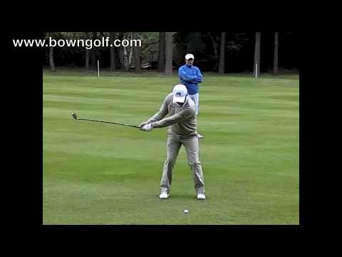 Paul McGinley fairway shot in slow motion