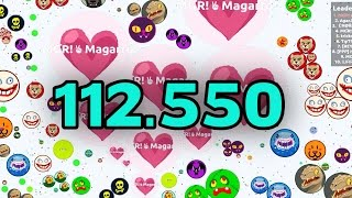 BEST AGAR.IO GAMEPLAY EVER?! 112K HIGHSCORE // AGARIO WORLD RECORD