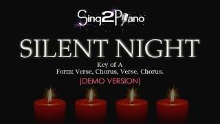 Silent Night Piano Karaoke Demo A