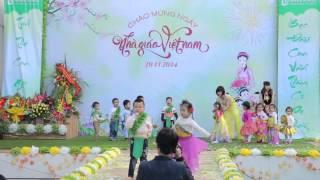 Tiết mục biểu diễn thời trang - Trường mầm non Green School