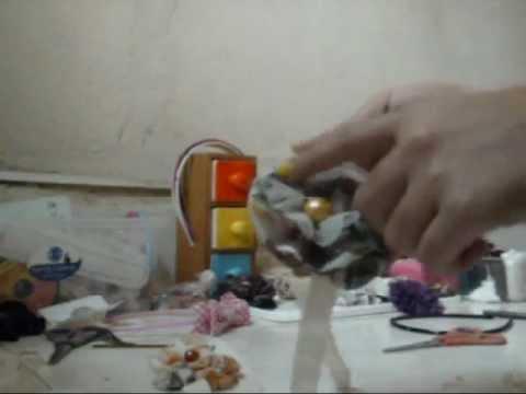 Como hacer un Cintillo con flor de tela? N2 bY CC
