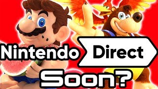 Nintendo Direct with Mario Reveal and Banjo Kazooie Smash Launch?