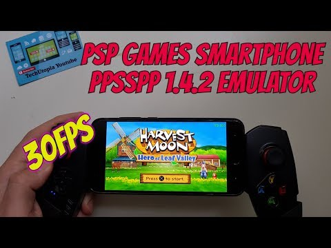 Playing Harvest Moon: Hero of Leaf Valley Android Smartphone PPSSPP 1.4.2 PSP games 30FPS/Video/2017