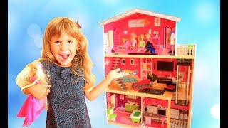 Arina Pretend Play with Playhouse for kids
