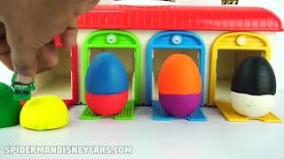 Learn Colors With Play Doh Surprise Toys For Kids