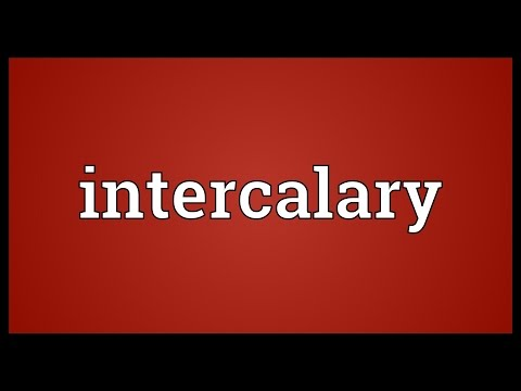 Header of intercalary