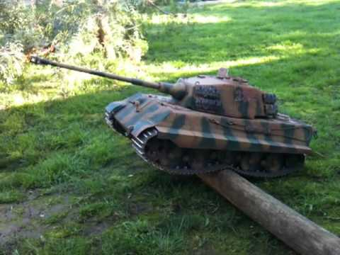 1/8 scale King Tiger R/C Tank by R/C Armory.