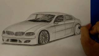 How to draw a car classic BMW  Passion