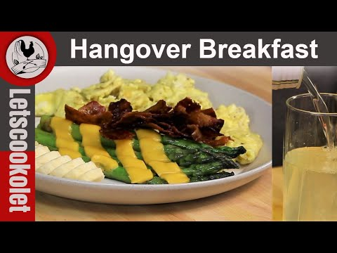 Hangover Breakfast and Drink  cure alcohol hangover