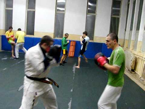 kyokushin training -punch combination Image 1