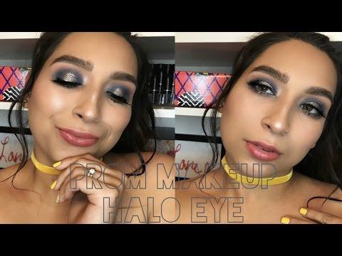Prom Makeup look Gun Metal Blue Halo eye