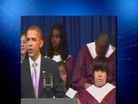 Kalamazoo Kid Sleeping During Obama Speech at Granduation