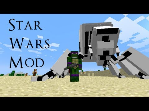 Minecraft Mod Showcase: STAR WARS!!!