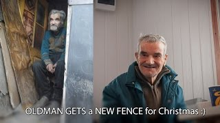 OLD MAN GETS a NEW FENCE on Christmas