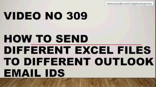 Learn Excel- Video 309-VBA- How to send multiple attachments to multiple Users