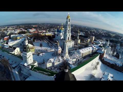 Троице-Сергиева лавра с высоты птичьего полёта 2015 - Video Scout X4