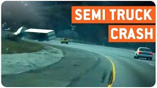 Semi Truck Rolls Over | And She's Down