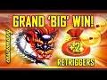 🐉GRAND 'BIG' WIN!🐉 +2 RETRIGGERS! 5 DRAGON GRAND SLOT!   (Casinomannj)   Slot Machine Bonus
