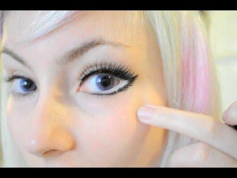 Make efeito olhos grandes ,  como fazer