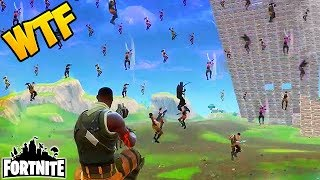 100 PLAYERS FALL FROM SKY! - Fortnite Funny Fails and WTF Moments! #75 (Daily Moments)