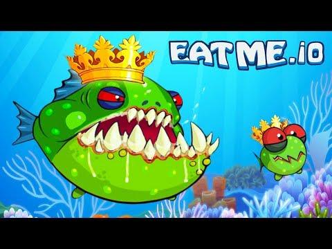 СЪЕШЬ МЕНЯ #2 Взял ТОП 1 Рыбная андроид игра EATME.IO похожая на СЛИЗАРИО Видео для детей