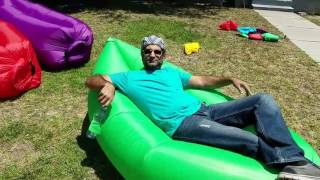 How to use inflatable Hangout Sofa + New Features + Extra Tips on how to inflate and repair