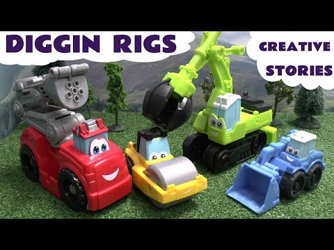 Thomas And Friends Play Doh Diggin Rigs Accident Crash Rescue Stories Bus Helicopter Fire Engine video
