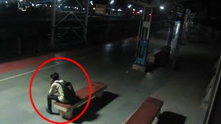 Scary Videos | Ghostly Figure Passing Caught On Camera From Haunted Railway Station | Ghost Videos