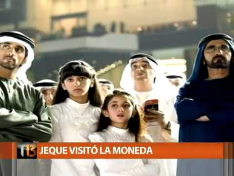 Bachelet firma convenios con uno de los jeques más ricos del mundo   Tele 13