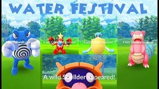Pokemon Go - Water Festival Rarest Spawns