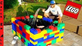MASSIVE LEGO POND BUILD for FISH!