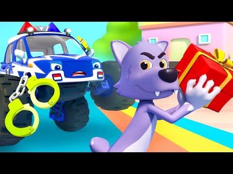 몬스터 경찰차 출동! 늑대가 선물을 갖고 싶어요~! 자동차동요 생활동요 고양이 베이비버스 인기동요 BabyBus